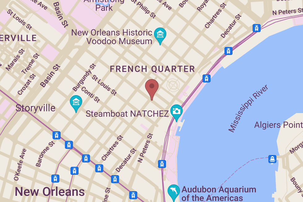 Gray Line Tours in New Orleans! location map