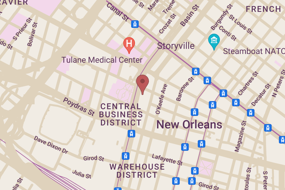 Holiday Inn Downtown Superdome location map