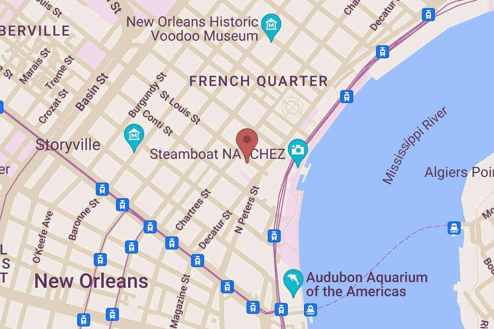 New Orleans School of Cooking location map