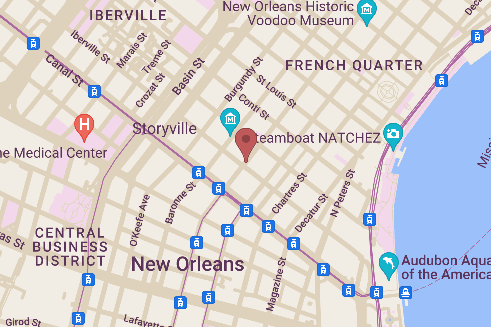Olde New Orleans Cookery location map