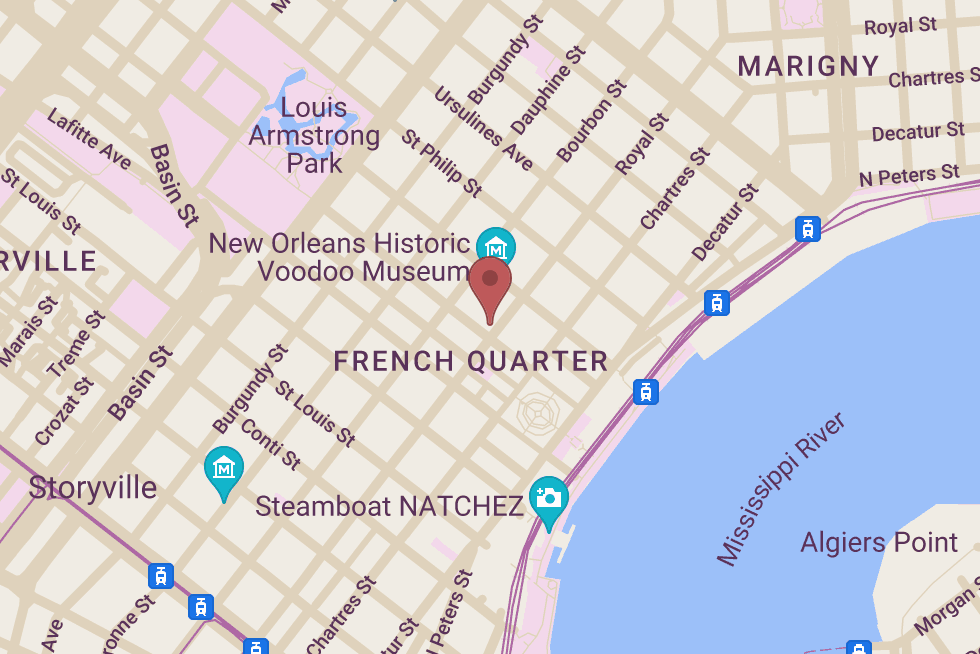Bourbon French Parfums location map