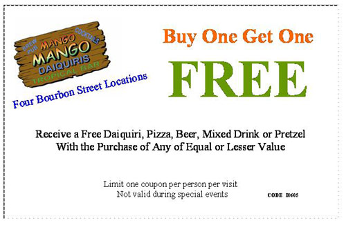 Mango Mango-  buy one get one free