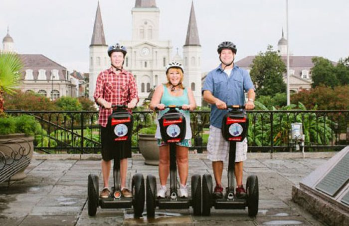 Segway New Orleans Tours glides groups of around eight sightseers through historic neighborhoods via the smoothly moving, self-balancing medium of the Segway. Before the tour, you'll learn how to safely maneuver these electric, horseless chariots, whose basics are easy to conquer within a %(24).