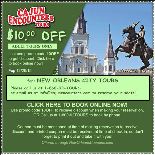 New orleans discount coupons