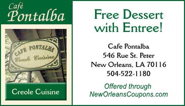 Coupon for Cafe Pontalba